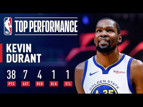 Kevin Durant ERUPTS For 38 Points in 3 Quarters! | April 18, 2019