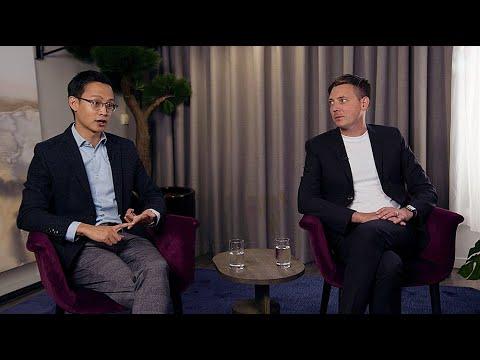 Keiward Pham och Johan Norén i samtal om digitalisering av byggbranschen.