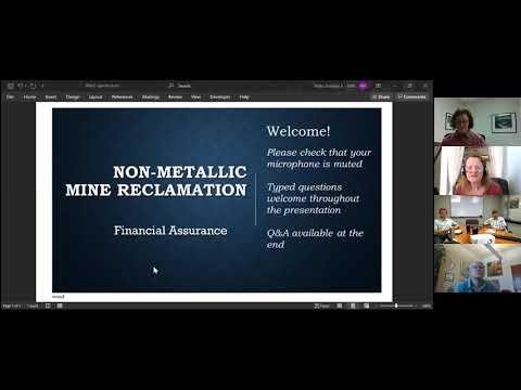 Non-Metallic Mine Reclamation: Financial Assurance (Part 2)