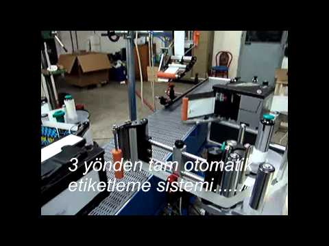 Konsis konveyör tam otomatik İnci akü 3 yön etiketleme ve konveyör sistemi...