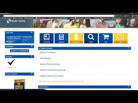 Sandler Online Quick Overview