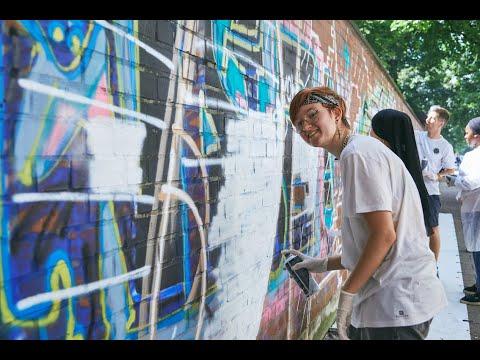 SCHÖN, DASS ES DICH GIBT_Graffiti-Projekt Schmellerstraße