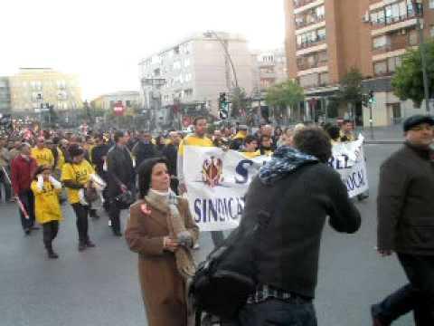 Manifestación trabajadores municipales /Autor: Carlos Alberto Cabrera.AVI