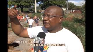 Moradores do bairro Caracóis de Baixo em Esmeraldas estão ilhados após queda de ponte