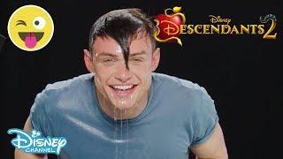 Descendants 2 | 🍎 Halloween Apple Bobbing Challenge ft. Thomas Doherty | Official Disney Channel UK