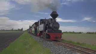 """Pozdrav z kolínské Řepařské drážky: Zkušební provoz německé parní lokomotivy 99 3312-8 WEM """"Diana"""""""