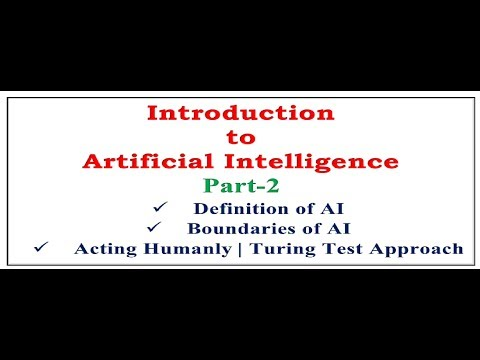 Artificial Intelligence|Definition of Artificial Intelligence|Boundaries of AI|Acting Humanly