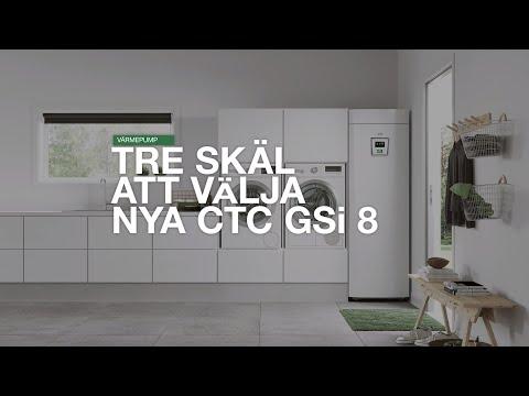 Nya CTC GSi8 – värmepump skräddarsydd för den mindre villan