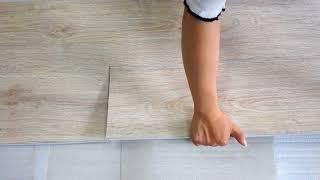 SPC floor installation process