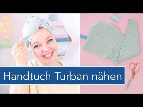 Handtuch Turban mit Ohren nähen | kostenloses Schnittmuster
