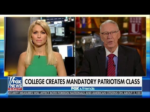 Fox News Pushes PATRIOTISM College Class To RESPECT OUR FLAG