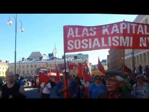 KTP:n Kommunistit hallituspolitiikkaa vastaan 22.8.2015