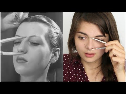 Learning Beauty Tips From 1930's Makeup Tutorials