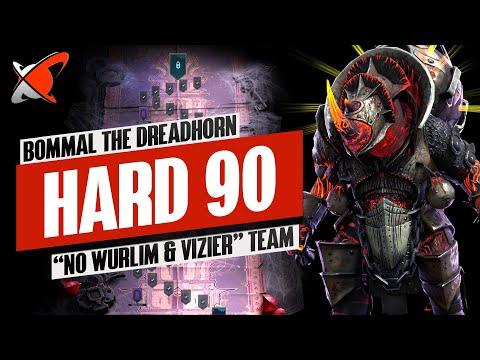 "BOMMAL THE DREADHORN | ""NO Wurlim & NO Vizier"" Hard 90 Team | Full Boss Fight | RAID: Shadow Legends"