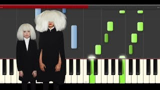 Sia To Be Human Wonder Woman OST Piano Midi tutorial Sheet app Cover Karaoke