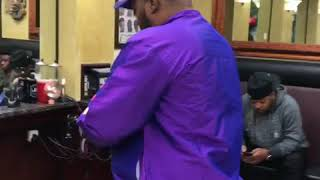 QUEENZFLIP - RUNS IN THE BARBERSHOP & CUT  @KIRKDON HAIR
