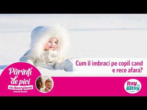 Cum il imbraci pe copil cand e frig afara?
