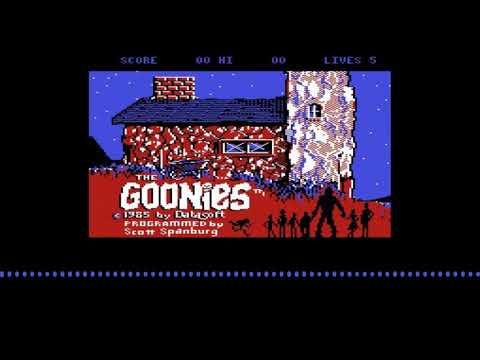 Intro de The Goonies para computadoras Atari 8 bits