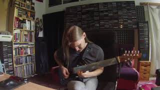 """Still Got The Blues"" guitar solo on fretless guitar"