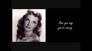 Julie London I cried a river over you (lyrics)