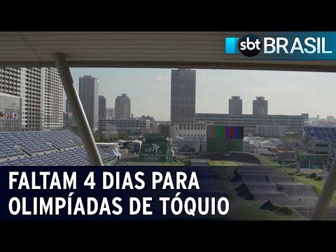Faltam 4 dias para abertura oficial das Olimpíadas de Tóquio   SBT Brasil (19/07/21)