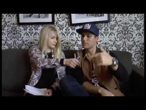 Erika intervjuar Eric Saade inför Stripped Live