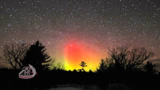 Aurora Borealis (Northern Lights) Land O Lakes region, Ontario, Canada