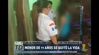 Niña de 11 años se suicidó en la Zona 18