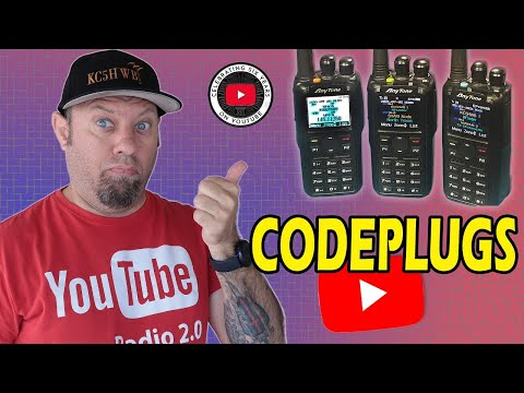DMR Codeplugs - Updating and Programming Anytone DMR Radios