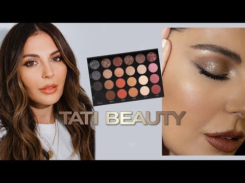 First Impressions Tati Beauty | Bronze Glitter Makeup Tutorial