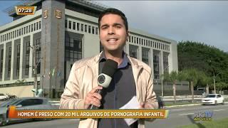 Homem é preso com 20 mil arquivos de pornografia infantil em Florianópolis