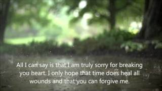I Never Wanted to Hurt You - Apology