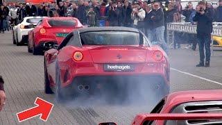 Ferrari 599 GTO – INSANE BURNOUT  ACCELERATIONS!!