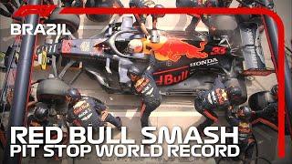 Red Bull Smash Pit Stop World Record | 2019 Brazilian Grand Prix