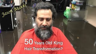 Hair Transformation for 50 Years Old King - Short Hair - Men Hair Style 2018 #23