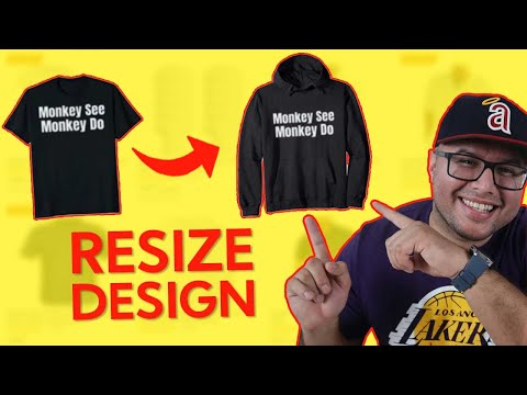 How To Resize Image For Merch By Amazon For Beginners Tutorial – Uploading Design Process 2021