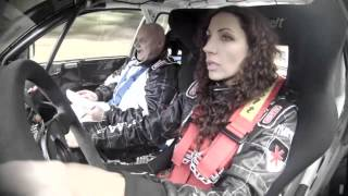 Test Valašská rally Olga Lounová a Richard Nesvadba
