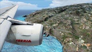 FSX Dangerous Approach ( Madeira ) ( HD )