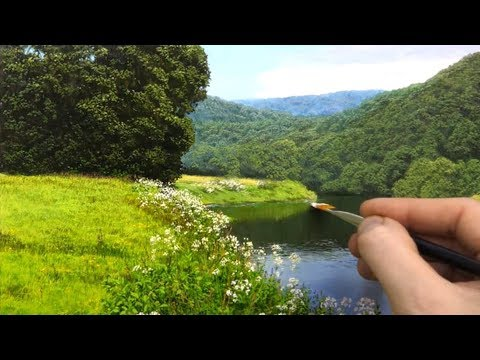 #133 Painting a landscape in oil | Time Lapse