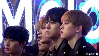 171202 MMA - JBJ Donghan reaction to BTS Spring Day(봄날 김동한 리액션)
