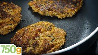 Recettes de cuisine : 750 Grammes Recette de Galettes de quinoa aux légumes  - 750 Grammes en vidéo