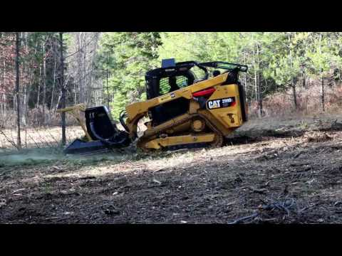 SS Extreme Forestry Mulcher on a CAT299 with steel tracks