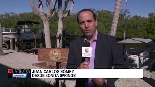El gobernador de Florida, Ron DeSantis estuvo en Bonita Springs firmando órdenes ejecutivas