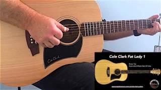 Cole Clark Fat Lady 1 Bunya Maple Tone Woods Demo