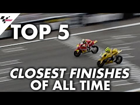 Top 5 closest finishes in MotoGP??!