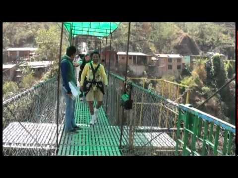 Canyon Swing @nepal kathmandu 2012