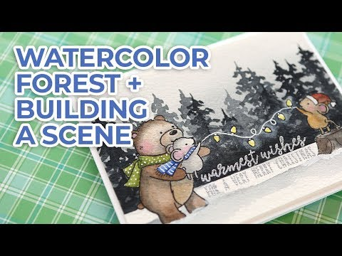 Watercolor Winter Scene - Neat & Tangled STAMPtember stamps
