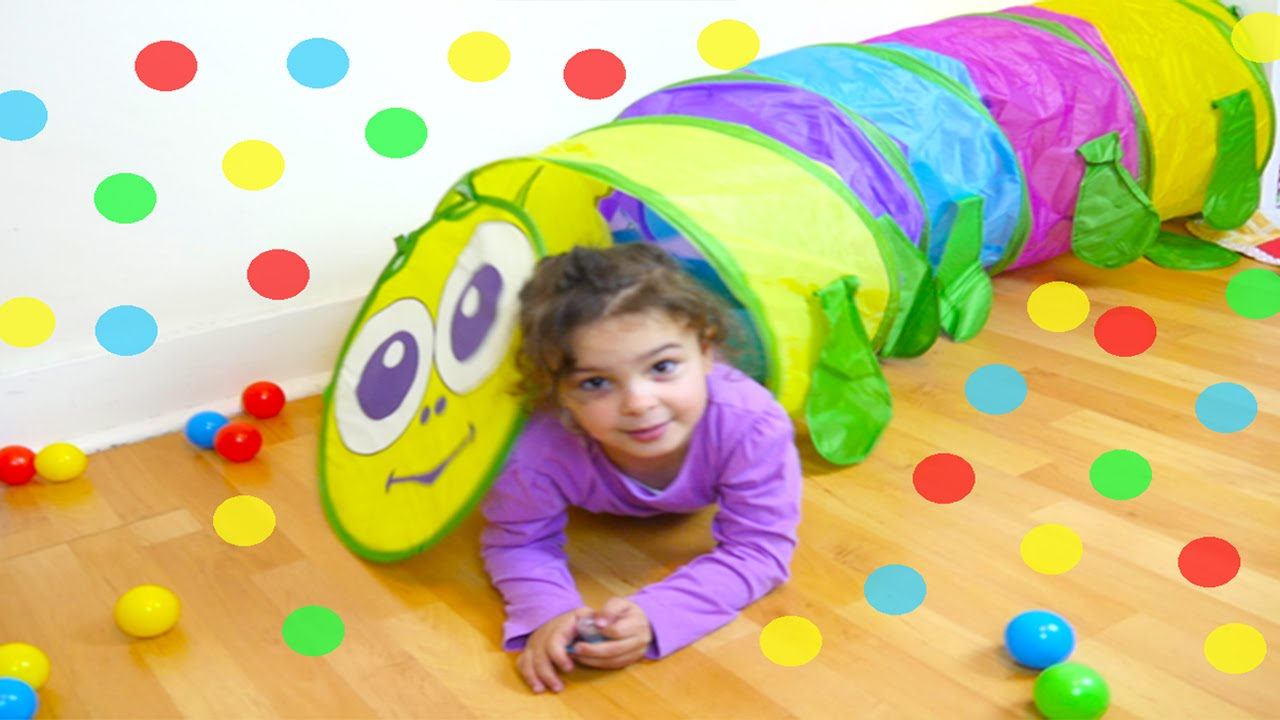 GIANT SURPRISE TOY PARK and Ball Pit! Caterpillar Pop Up Tunnel for Kids, Disney Peppa Pig MLP Toys
