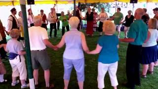 Teaching simple circle dance ~ Winona International Dancers