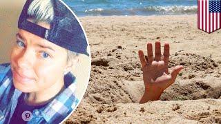 Wanita Terkubur Hidup Hidup Ketika Jatuh Ke Lubang Pasir Galian Di Pantai   TomoNews